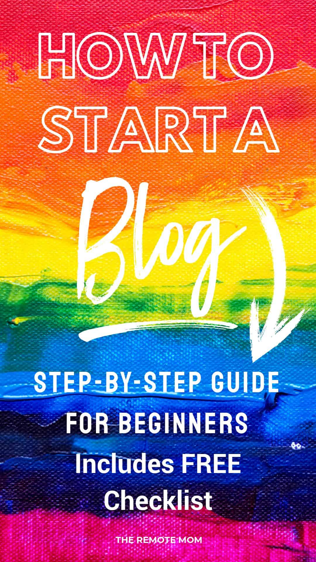 How to start a blog checklist