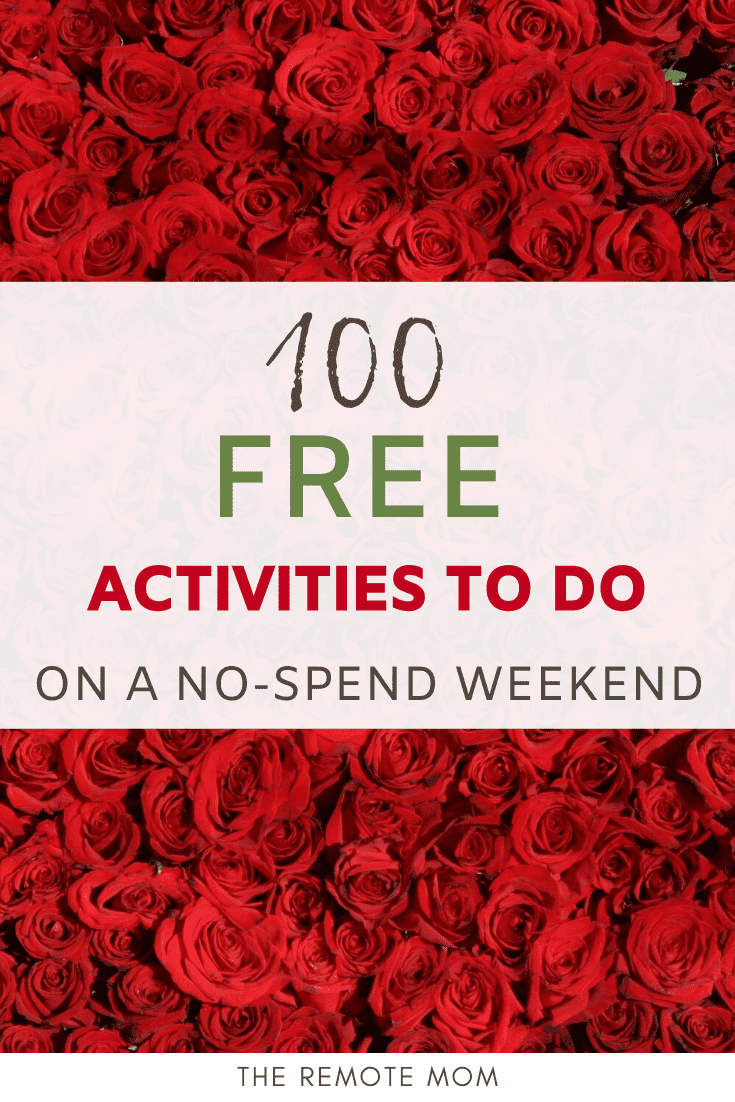 100 Free Activities to Do on a No-Spend Weekend