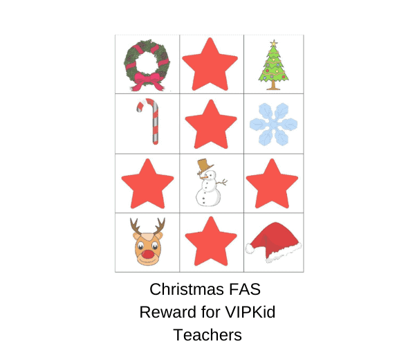 Christmas FAS Find-a-star Reward