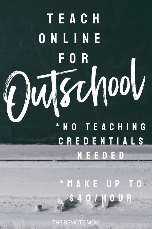 Teach Online for Outschool