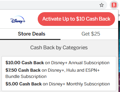 Cash back with Rakuten
