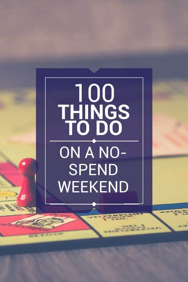 100 Things to do instead of spending money