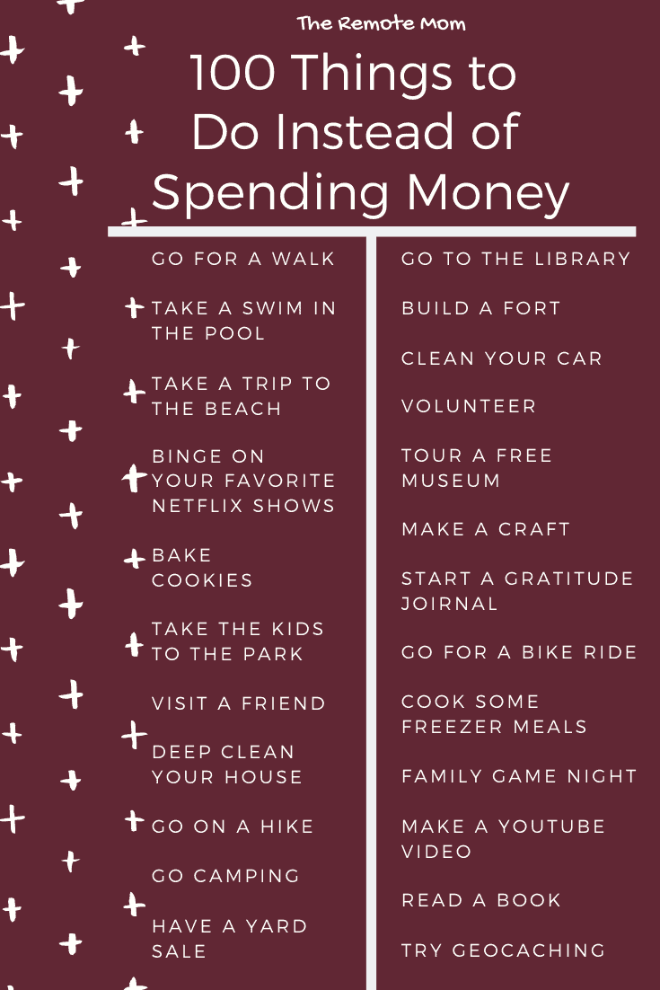 Things to Do on a No-Spend Weekend
