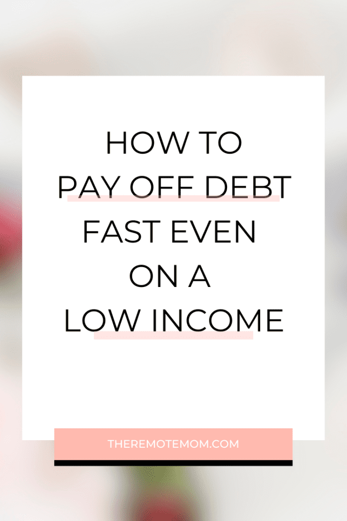 how to pay off debt quickly when you are broke