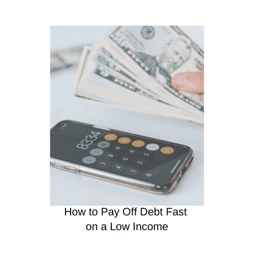 pay off debt fast on a low income